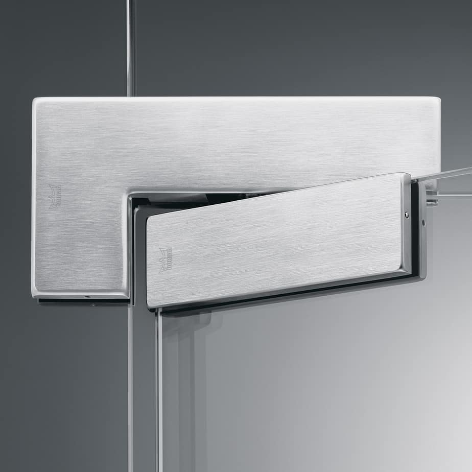 Patch fittings typical application for glass door with patch fittings - Dorma Arcos Universal Patch Fitting